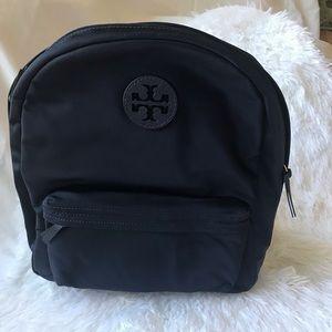 Navy Blue Tilda Nylon Backpack TORY BURCH